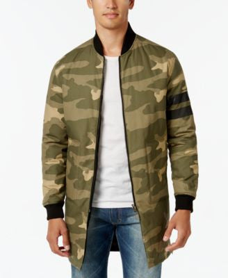 Sean John Men's Reversible Black and Camo Bomber Jacket
