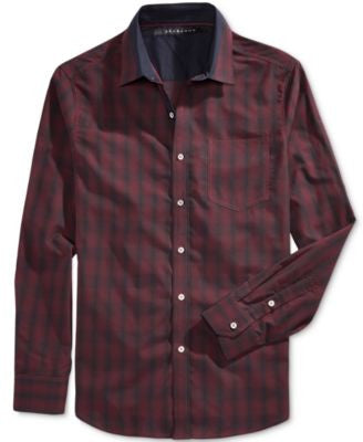 Sean John Men's Long-Sleeve Plaid Shirt