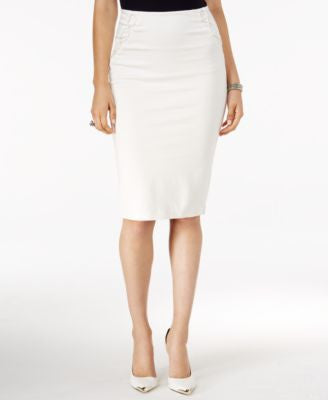 GUESS Mona Lace-Up Pencil Skirt