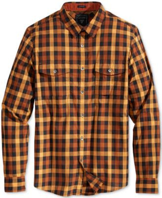 GUESS Men's Long-Sleeve Mathew Check Shirt