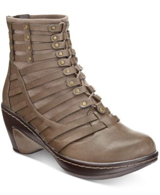 JBU by Jambu Women's Toffee Wedge Booties