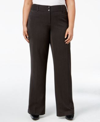 Alfani Plus Size Curvy-Fit Slimming Bootcut Pants, Only at Vogily