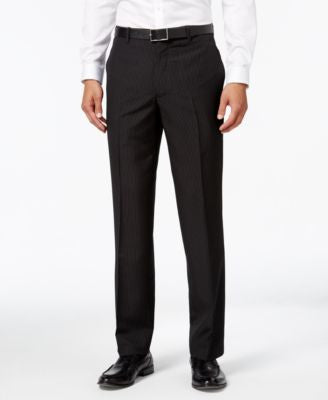 INC International Concepts Men's Classic-Fit Pinstripe Dress Pants, Only at Vogily