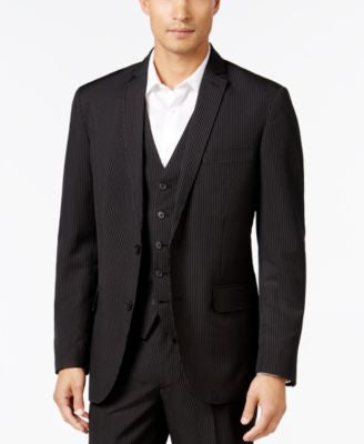 INC International Concepts Men's Classic-Fit Pinstripe Blazer, Only at Vogily