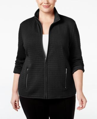 Karen Scott Plus Size Quilted Jacket, Only at Vogily