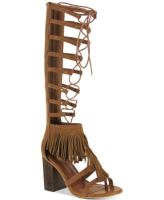Mia Ricarda Gladiator Block-Heel Sandals
