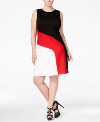 MICHAEL Michael Kors Plus Size Colorblocked Shift Dress