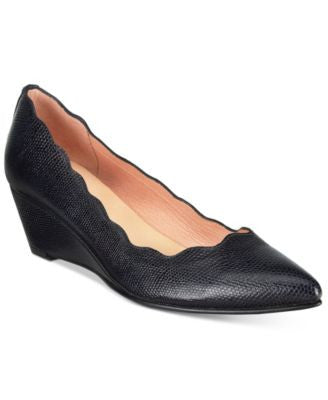 French Sole FS/NY Terrazzo Pointed-Toe Wedge Pumps