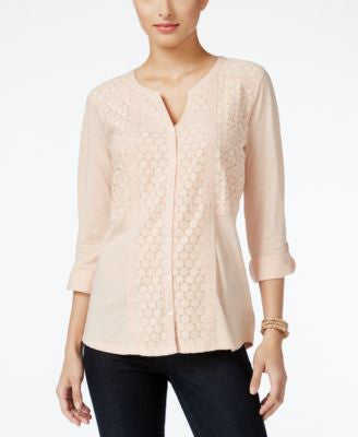 Style & Co. Lace Shirt, Only at Vogily