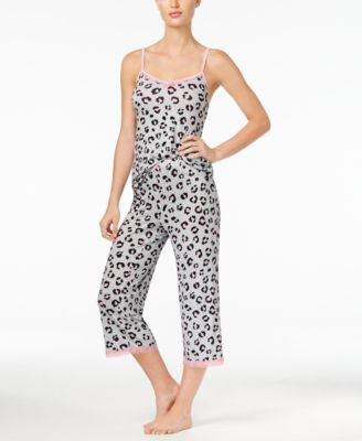 Jenni by Jennifer Moore Leo Printed Tank Top and Capri Pants Sleep Separates, Only at Vogily