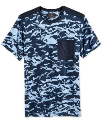 GUESS Men's Blotted Ink Panel T-Shirt