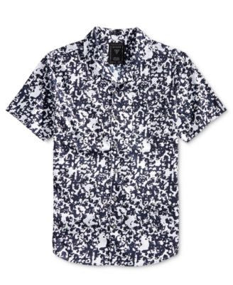 GUESS Men's Abstract Animal-Print Shirt