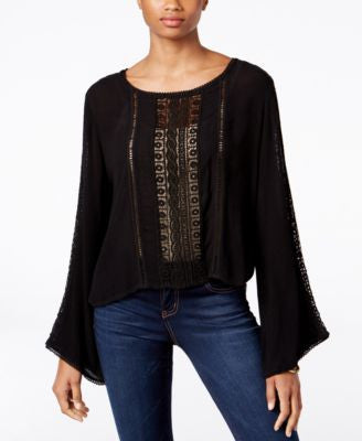Kut from the Kloth Bell Sleeve Peasant Top