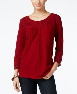 Style & Co. Crochet-Trim Top, Only at Vogily