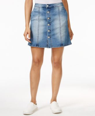 Calvin Klein Jeans Button-Front Denim Skirt