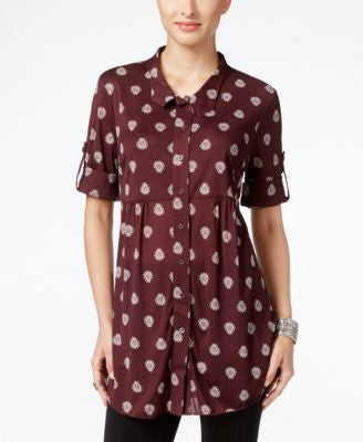 Style & Co. Petite Printed Mesh Tunic, Only at Vogily