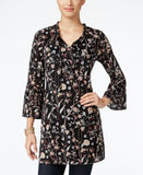 Style & Co. Printed Bell-Sleeve Tunic, Only at Vogily