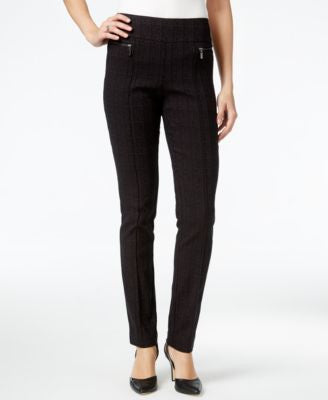 Style & Co. Plaid Printed Skinny Pants, Only at Vogily