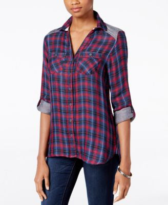 Vintage America Plaid Roll-Cuff Shirt