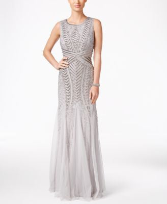 Adrianna Papell Petite Embellished Mermaid Gown