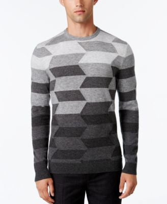 Alfani Collection Men's Ombré Chevron Sweater, Classic Fit