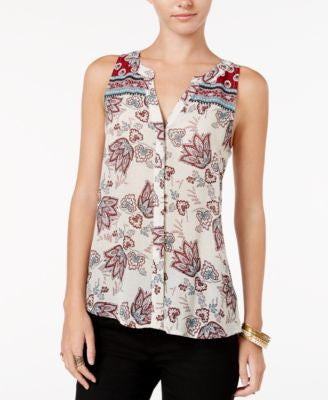 Sanctuary Craft Mixed-Print Blouse