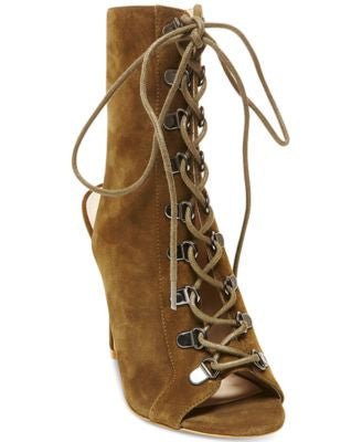 Steve Madden Women's Kennee Lace-Up Peep-Toe Pumps