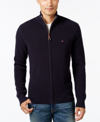 Tommy Hilfiger Men's Fabian Full-Zip Sweater