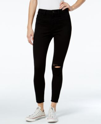 DL 1961 Jessica Alba No. 2 Ripped Saber Wash Super Skinny Jeans