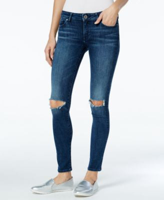 DL 1961 Emma Ripped Barbwire Wash Skinny Jeans