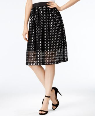kensie Lace A-Line Skirt