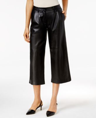 MICHAEL Michael Kors Leather Pleated Culottes