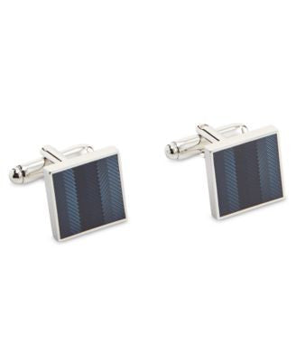 Geoffrey Beene Men's Blue Epoxy Cufflinks