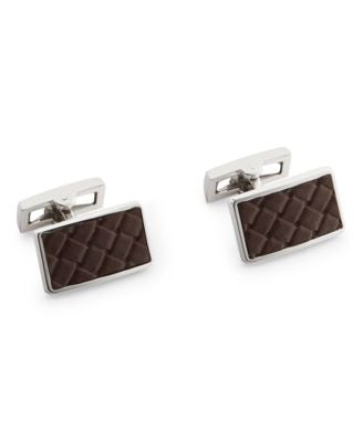Ryan Seacrest Distinction Men's Faux Leather Cufflinks, Only at Vogily