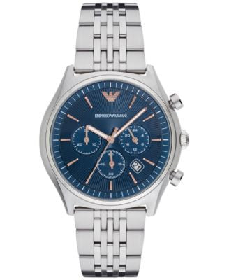 Emporio Armani Men's Chronograph Zeta Stainless Steel Bracelet Watch 43mm AR1974