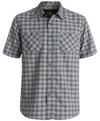 Quiksilver Men's Check Short-Sleeve Shirt