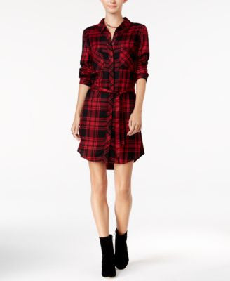 Sanctuary Jordane Plaid Shirtdress