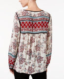 Sanctuary Belle Printed Peasant Top