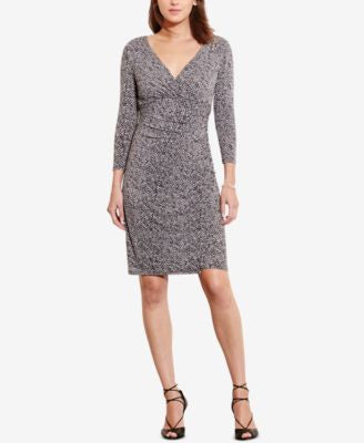 Lauren Ralph Lauren Jersey Surplice Dress