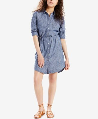 Levi's® Printed Denim Shirtdress