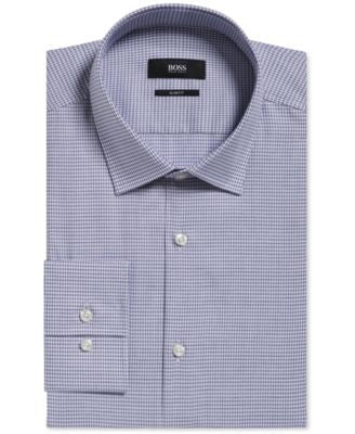 BOSS Men's Slim-Fit Pepita Dress Shirt