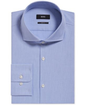 BOSS Men's Slim-Fit Patterned Dress Shirt