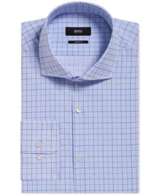 BOSS Men's Slim-Fit Plaid Dress Shirt