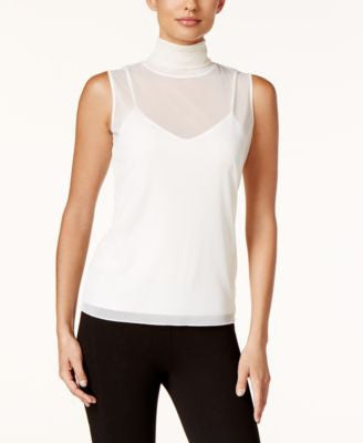 Calvin Klein Mock-Turtleneck Shell