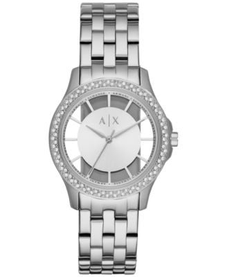 Armani Exchange Women's Lady Hampton Stainless Steel Bracelet Watch 36mm AX5250