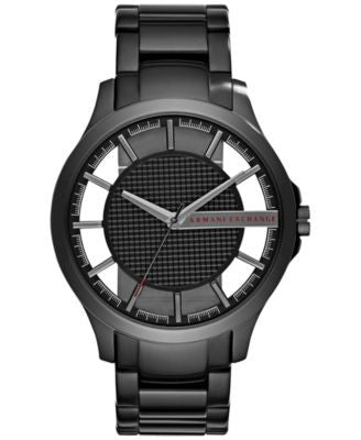 A|X Armani Exchange Men's Hampton Black Stainless Steel Bracelet Watch 46mm AX2189