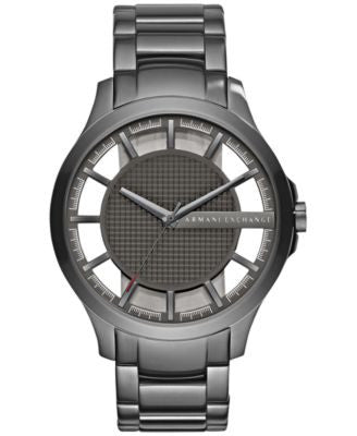 A|X Armani Exchange Men's Hampton Gunmetal Stainless Steel Bracelet Watch 46mm AX2188