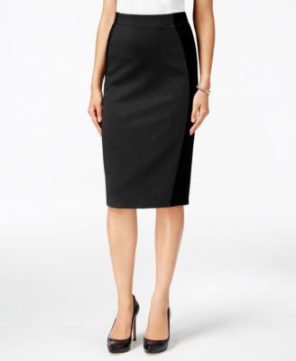 Grace Elements Colorblocked Pencil Skirt