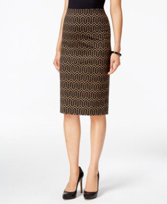 Grace Elements Printed Pencil Skirt