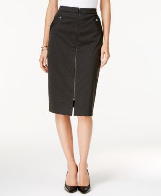 Grace Elements Zipper-Front Pencil Skirt